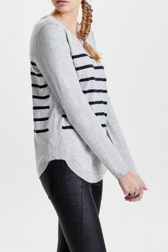 Shoptiques Product: Stripe Long Sleeve Sweater