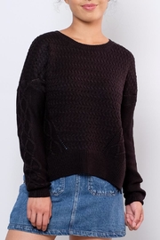 ONLY Cable Knit Sweater - Front cropped