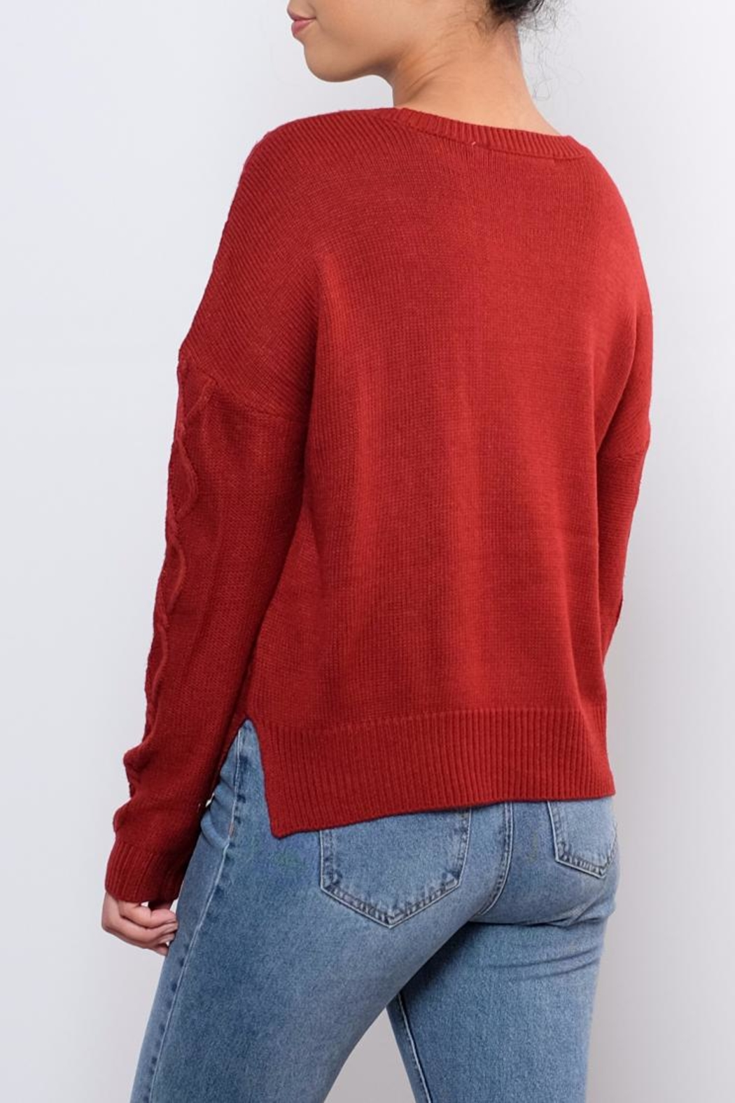 ONLY Cable Knit Sweater - Side Cropped Image