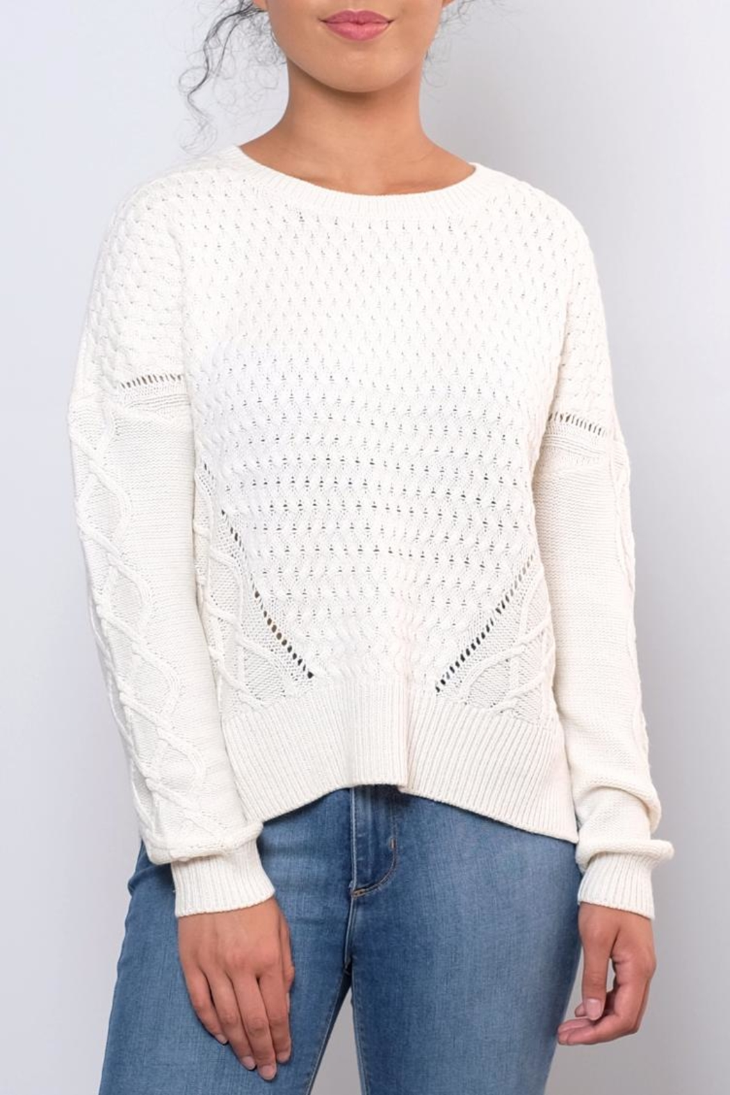 ONLY Cable Knit Sweater - Front Cropped Image