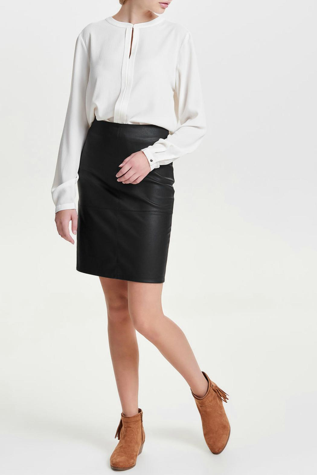 Outlet Clearance Outlet Hot Sale Faux Leather Skirt - Black Only From China Free Shipping Low Price Discount Enjoy Affordable 7vjIR7mZhL