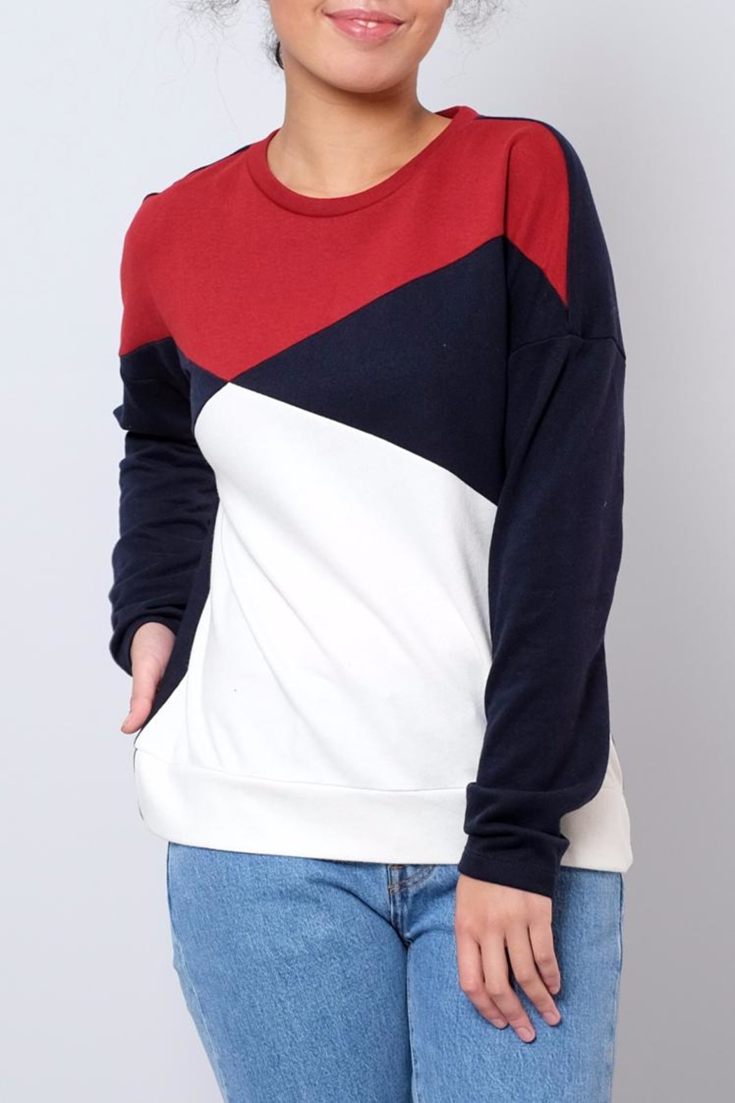 ONLY Colour Block Sweatshirt - Main Image