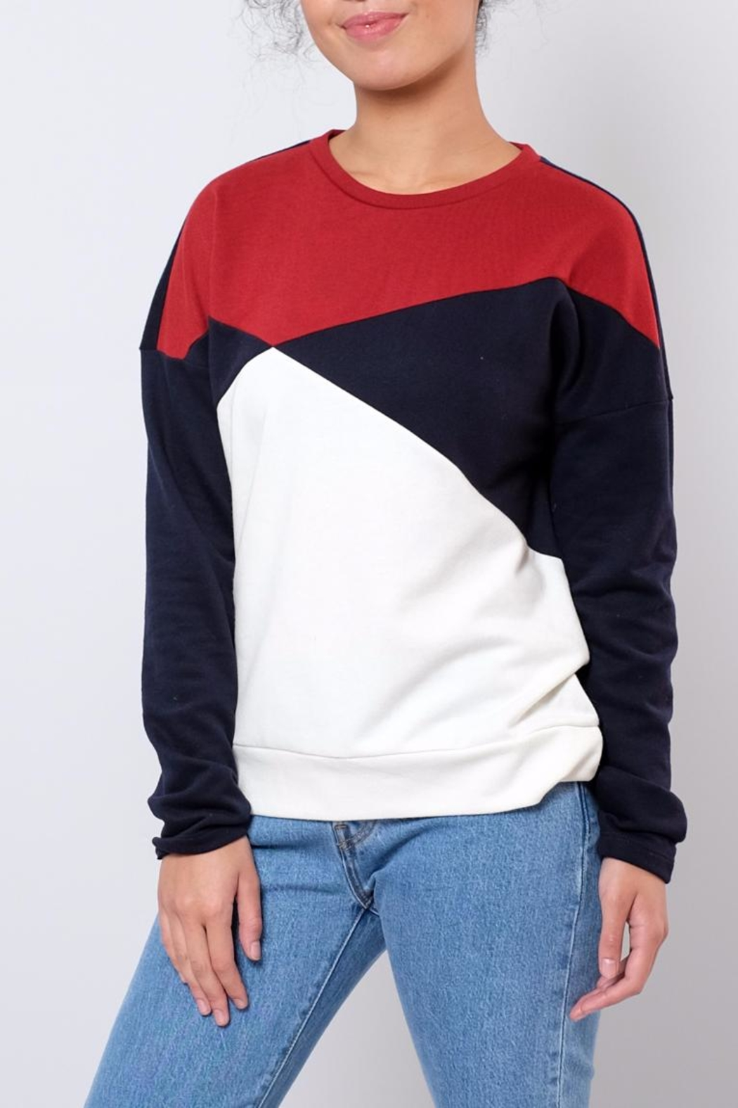 ONLY Colour Block Sweatshirt - Front Full Image