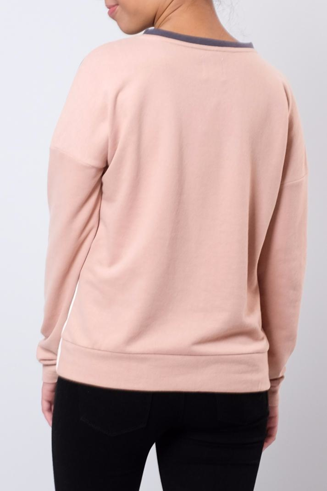 ONLY Colour Block Sweatshirt - Side Cropped Image