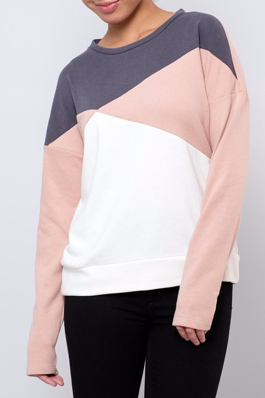 ONLY Colour Block Sweatshirt - Front Cropped Image