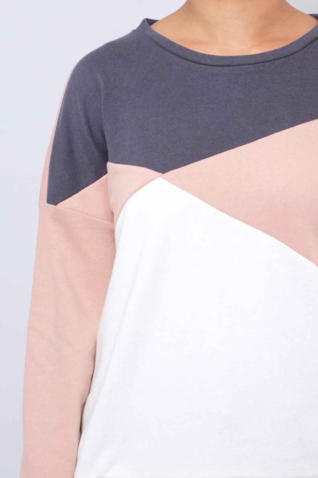ONLY Colour Block Sweatshirt - Back Cropped Image