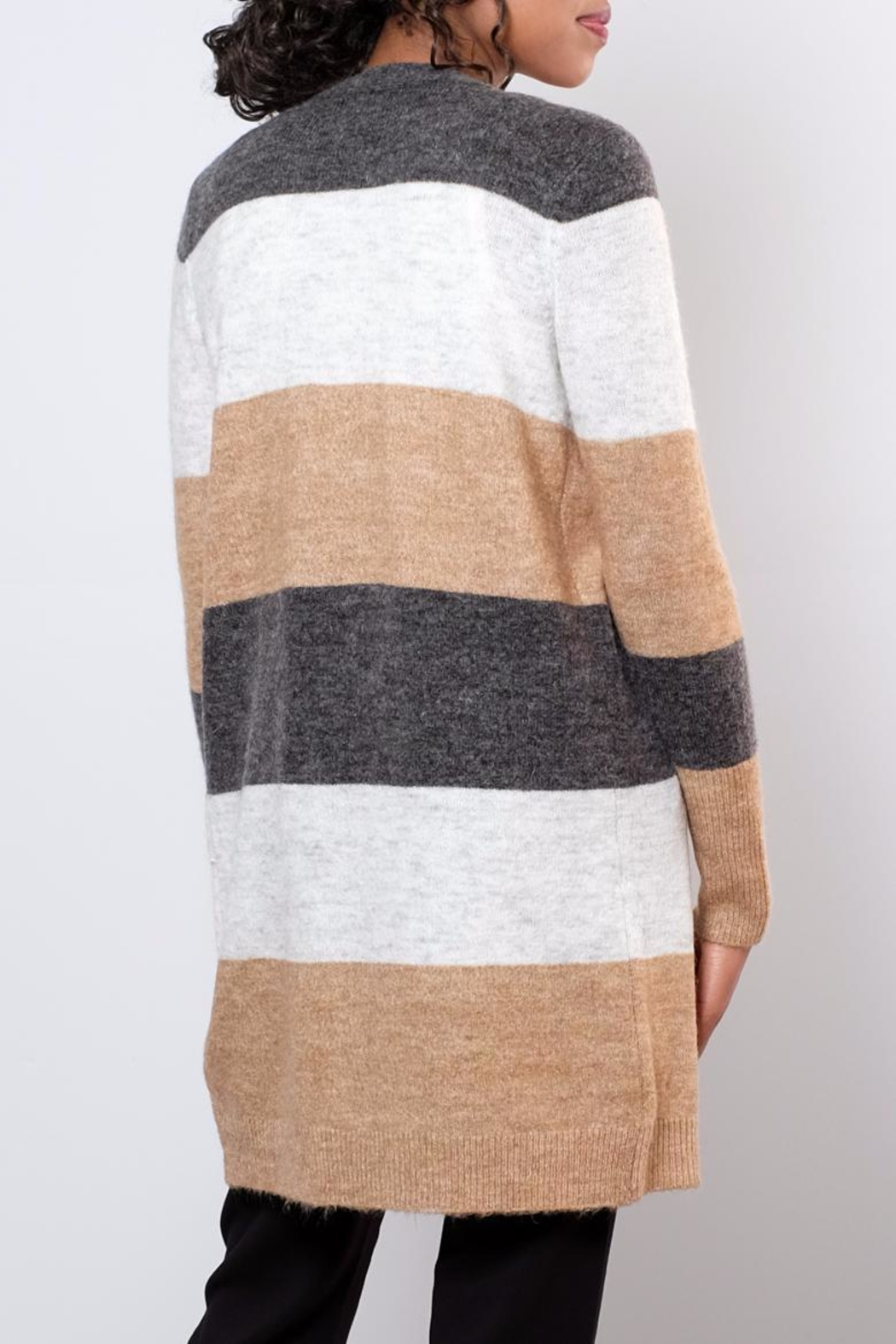 ONLY Colour Blocked Cardigan - Side Cropped Image