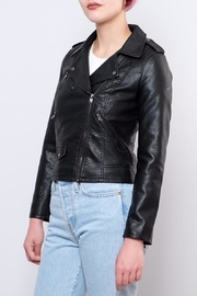 ONLY Cropped Faux Leather Jacket - Product Mini Image