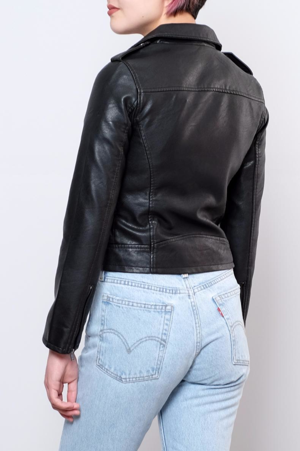 ONLY Cropped Faux Leather Jacket - Side Cropped Image
