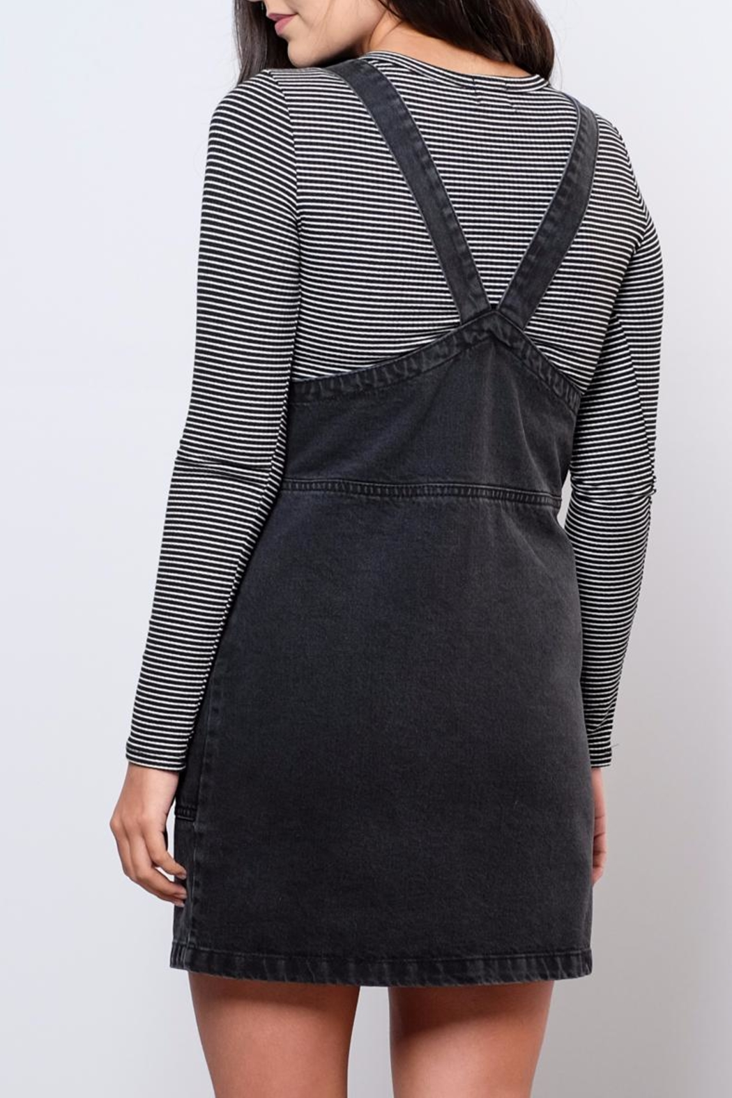 ONLY Denim Overall Dress - Back Cropped Image