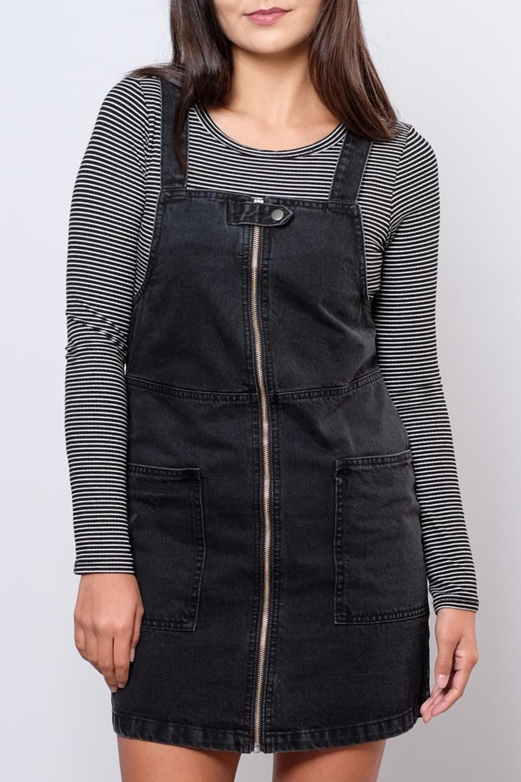 ONLY Denim Overall Dress - Front Full Image