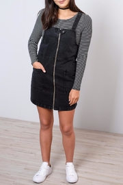 ONLY Denim Overall Dress - Front cropped