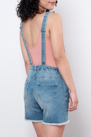 ONLY Embroidered Short Overall - Back cropped