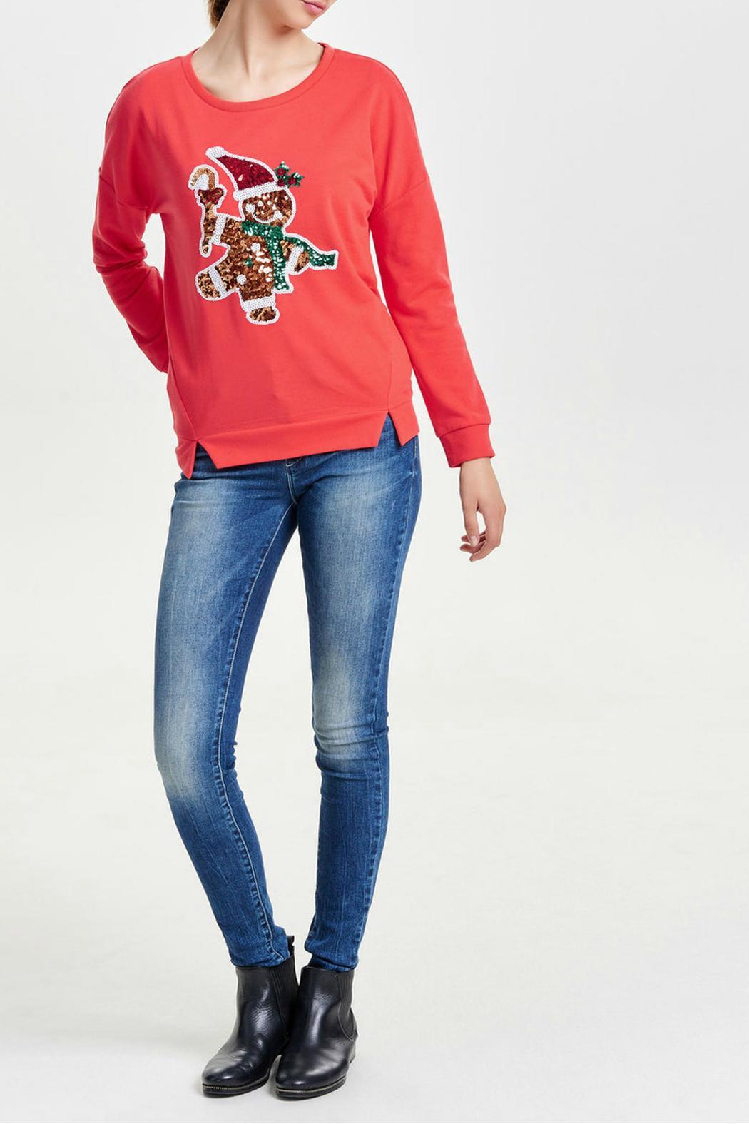 ONLY Festive Christmas Sweater - Side Cropped Image