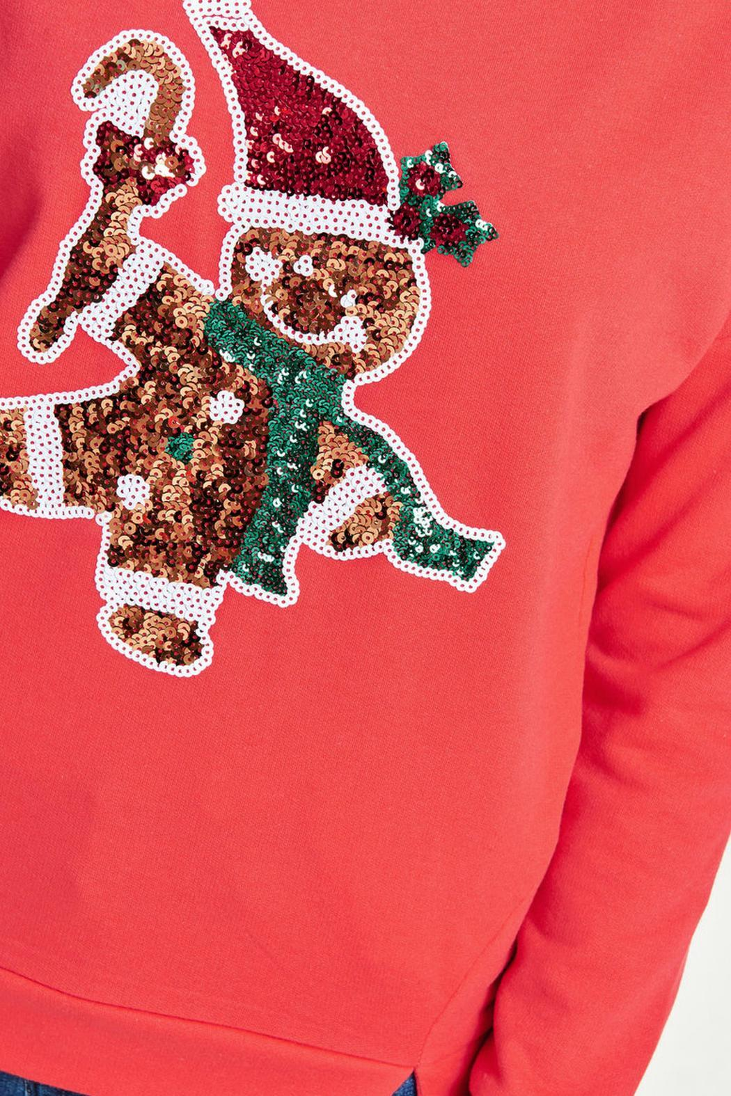 ONLY Festive Christmas Sweater - Back Cropped Image