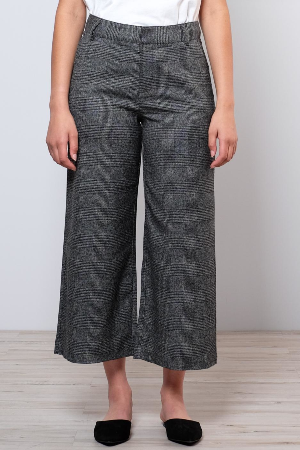 ONLY High Waisted Check Trousers - Main Image