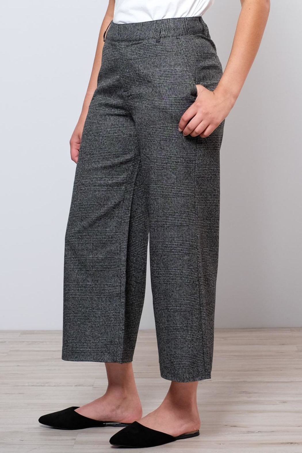 ONLY High Waisted Check Trousers - Front Full Image
