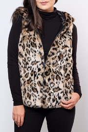 ONLY Hooded Fur Vest - Front cropped