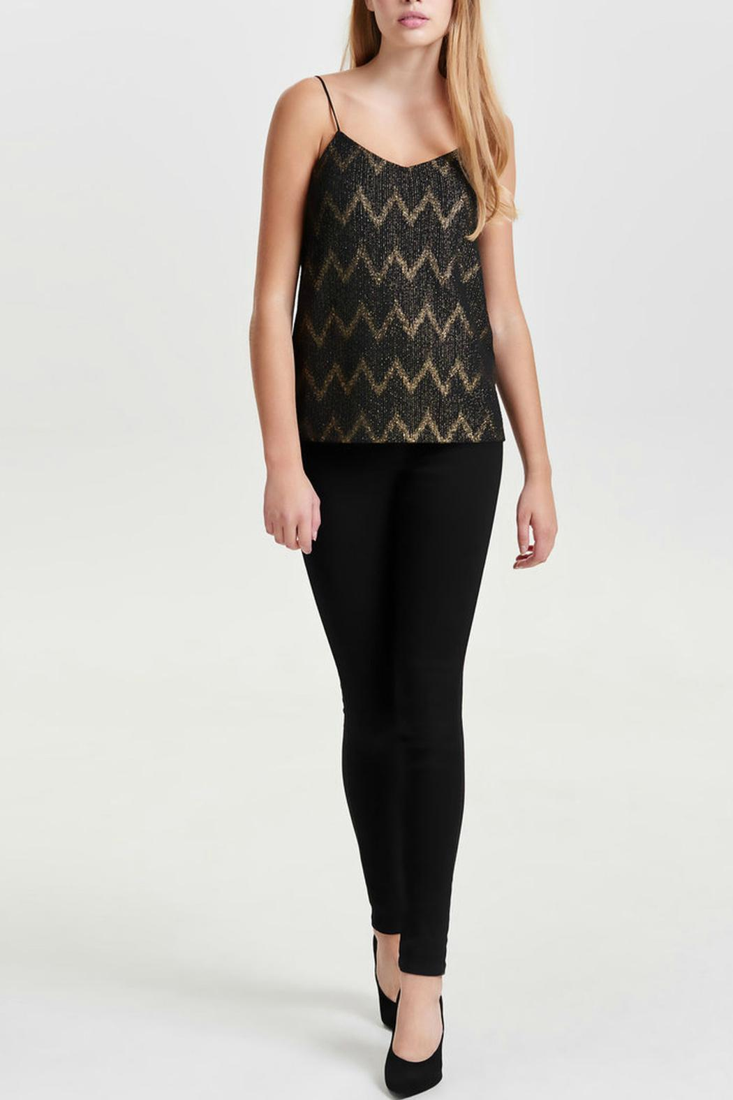 ONLY Jodie Chevron Top - Side Cropped Image
