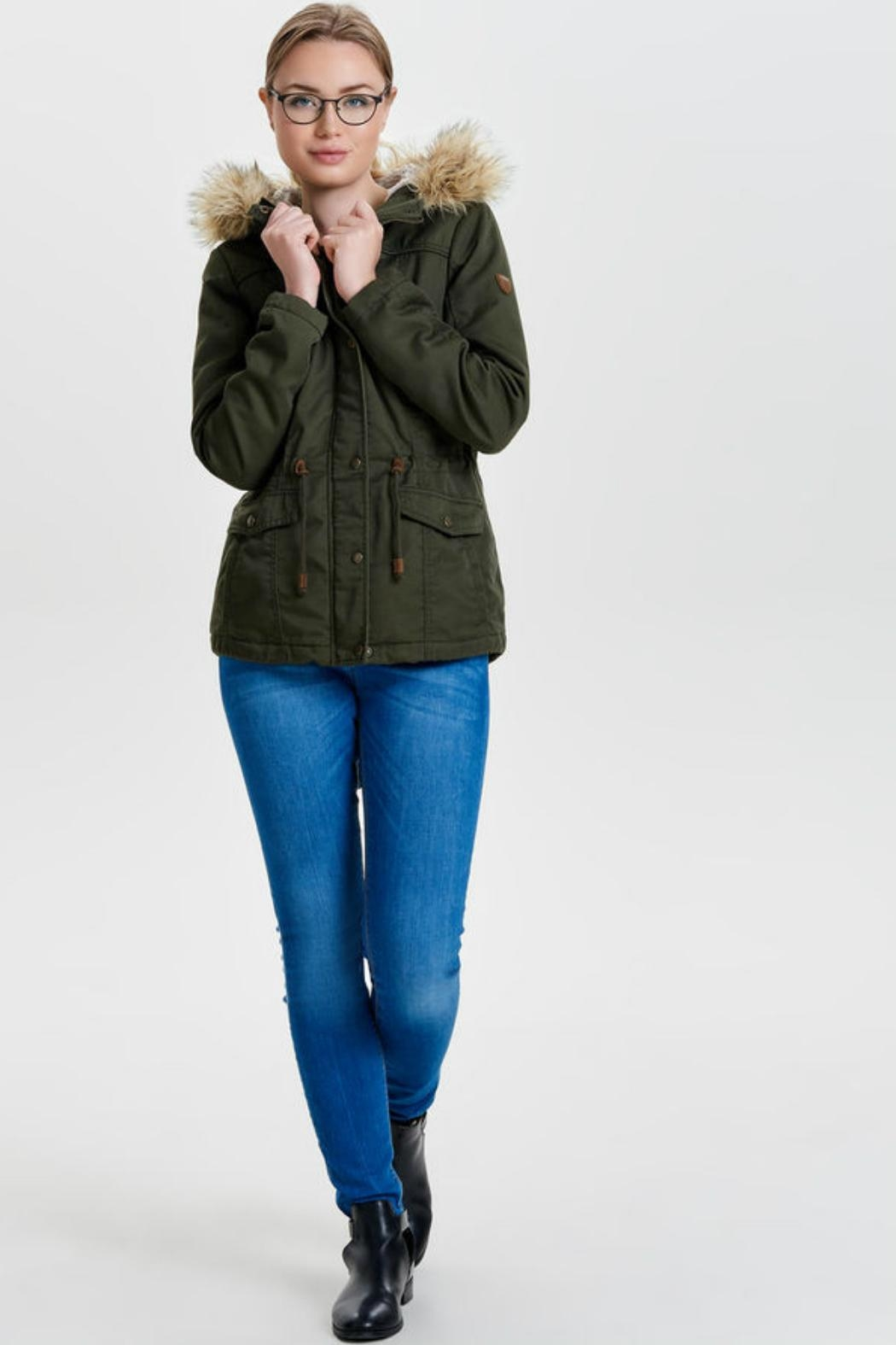 ONLY Kate Canvas Parka - Side Cropped Image