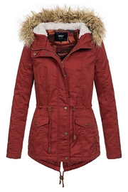 ONLY Kate Canvas Parka - Front cropped