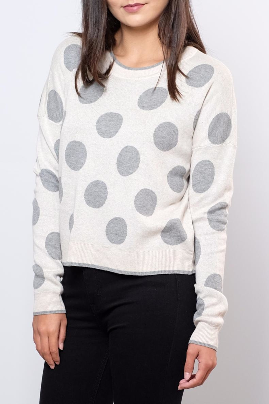 ONLY Polka Dot Pullover Top - Front Full Image
