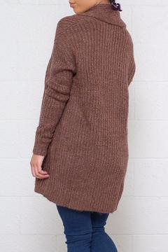 Shoptiques Product: Ribbed Open Cardigan