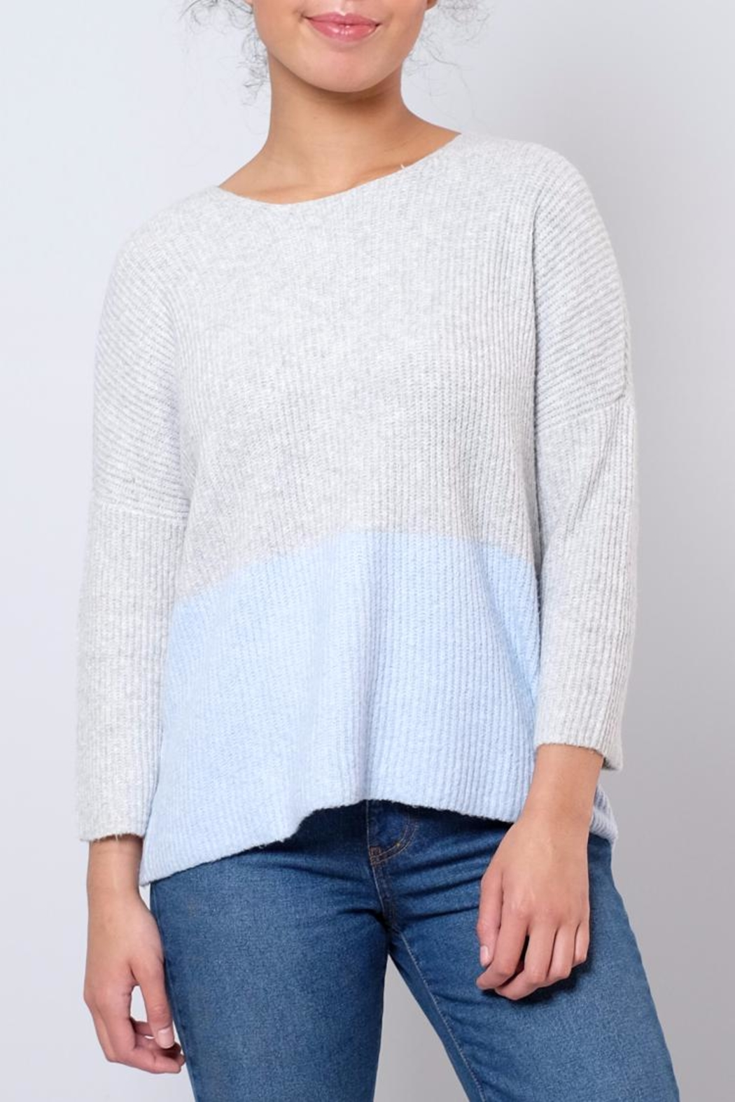 ONLY Ribbed Pullover - Front Cropped Image