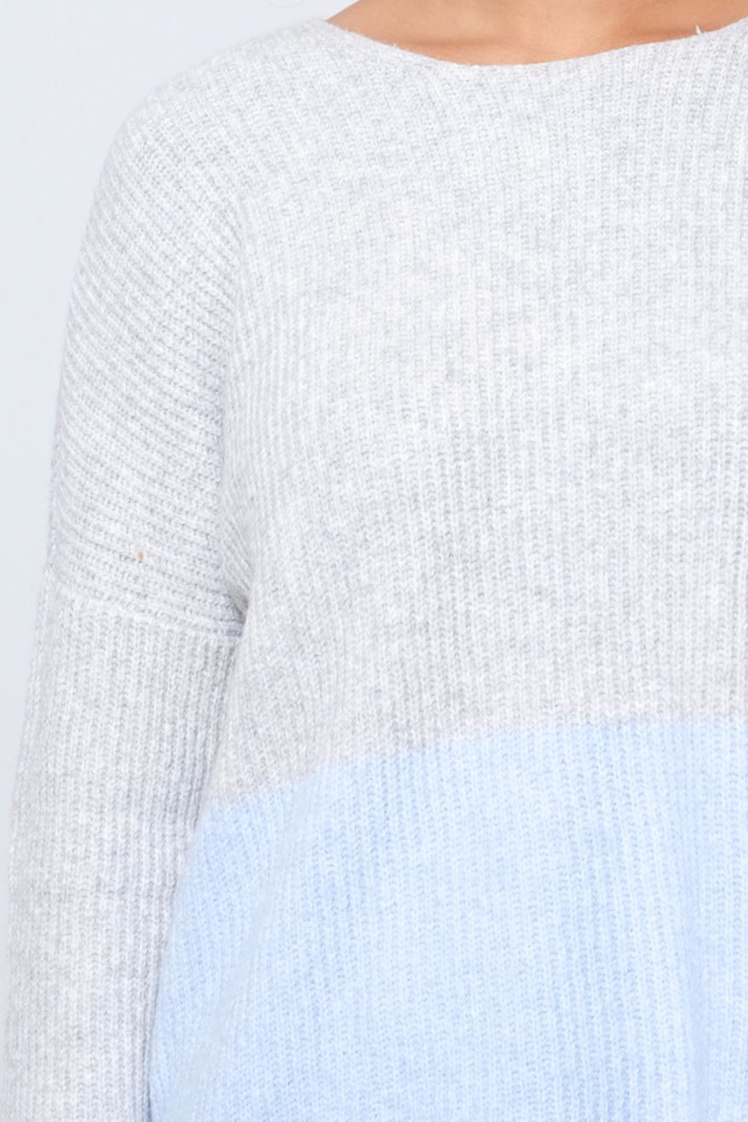 ONLY Ribbed Pullover - Back Cropped Image