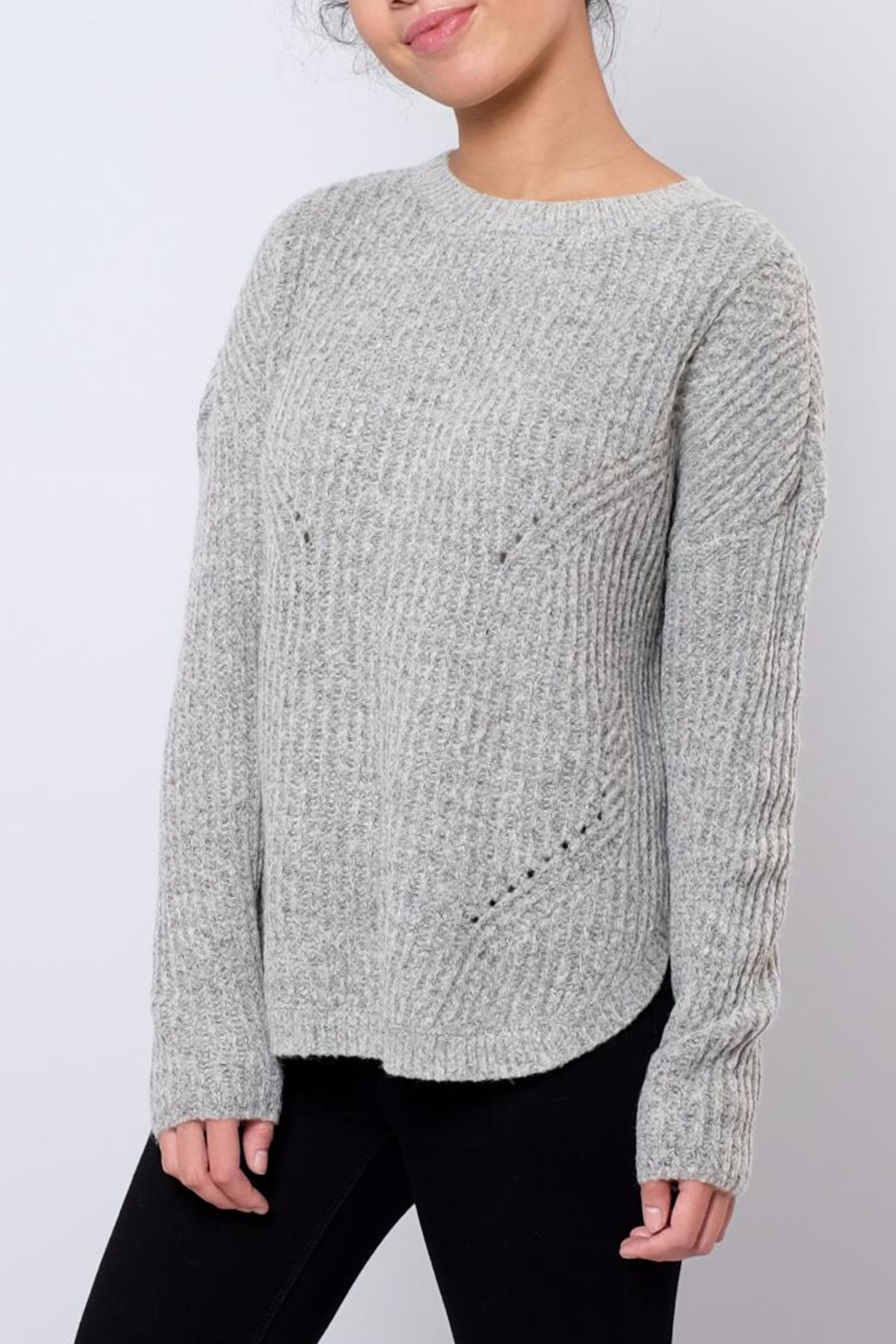ONLY Rounded Hem Pullover - Front Full Image