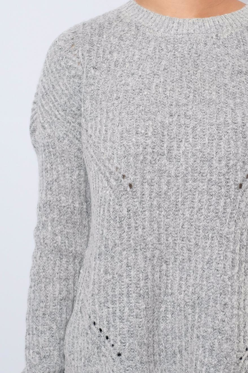 ONLY Rounded Hem Pullover - Back Cropped Image