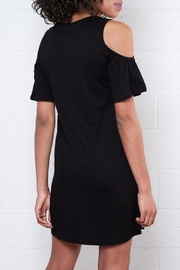 ONLY Ruffled Cold Shoulder Dress - Back cropped