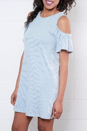 ONLY Ruffled Cold Shoulder Dress - Side cropped