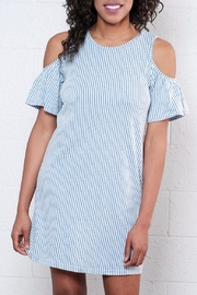 ONLY Ruffled Cold Shoulder Dress - Front full body