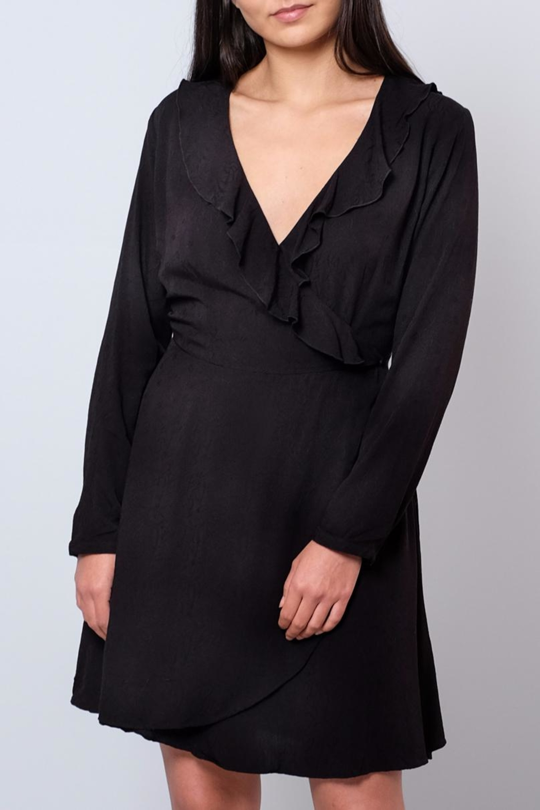 ONLY Ruffled Wrap Dress - Front Cropped Image