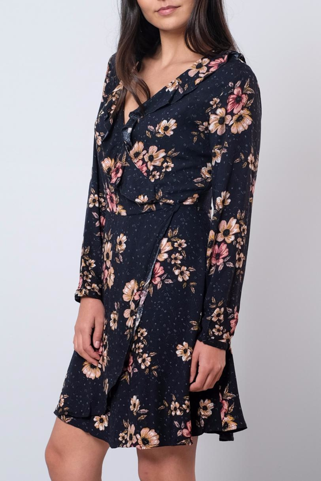 ONLY Ruffled Wrap Dress - Front Full Image