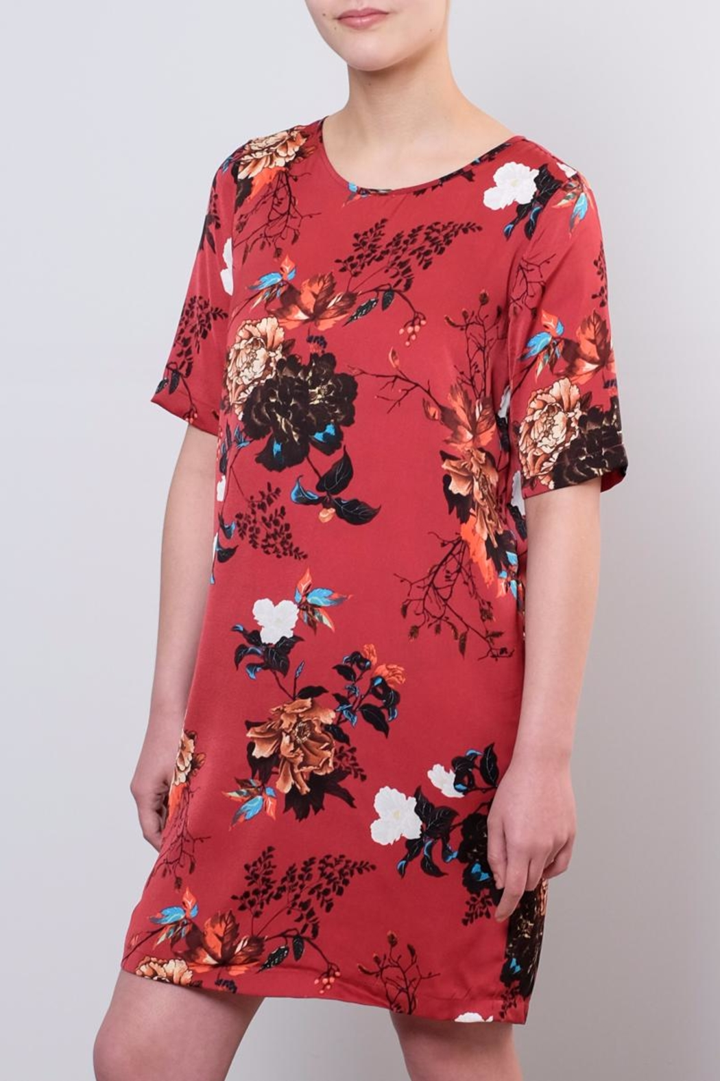 ONLY Satin T Shirt Dress - Front Full Image