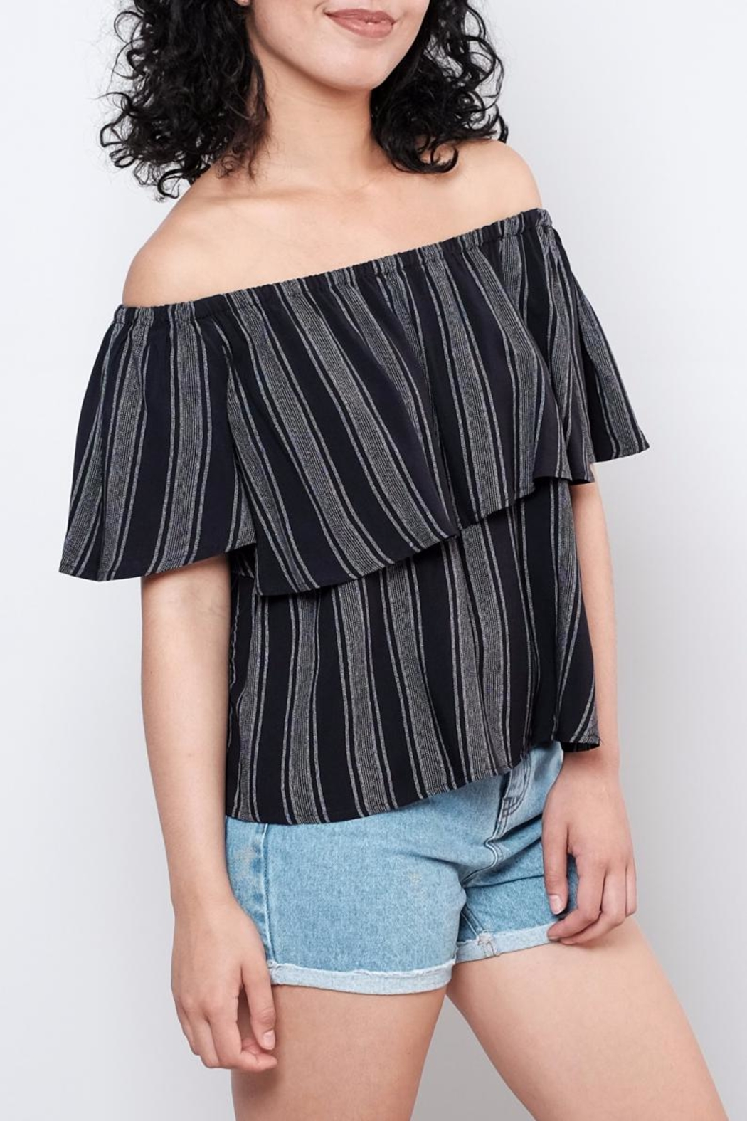 ONLY Striped Top - Front Full Image