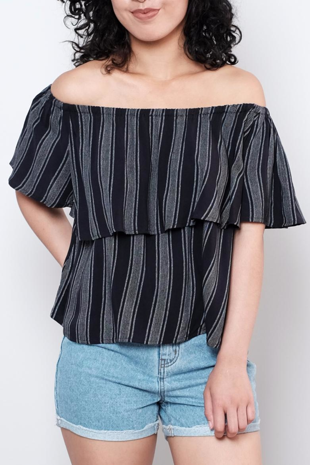 ONLY Striped Top - Front Cropped Image