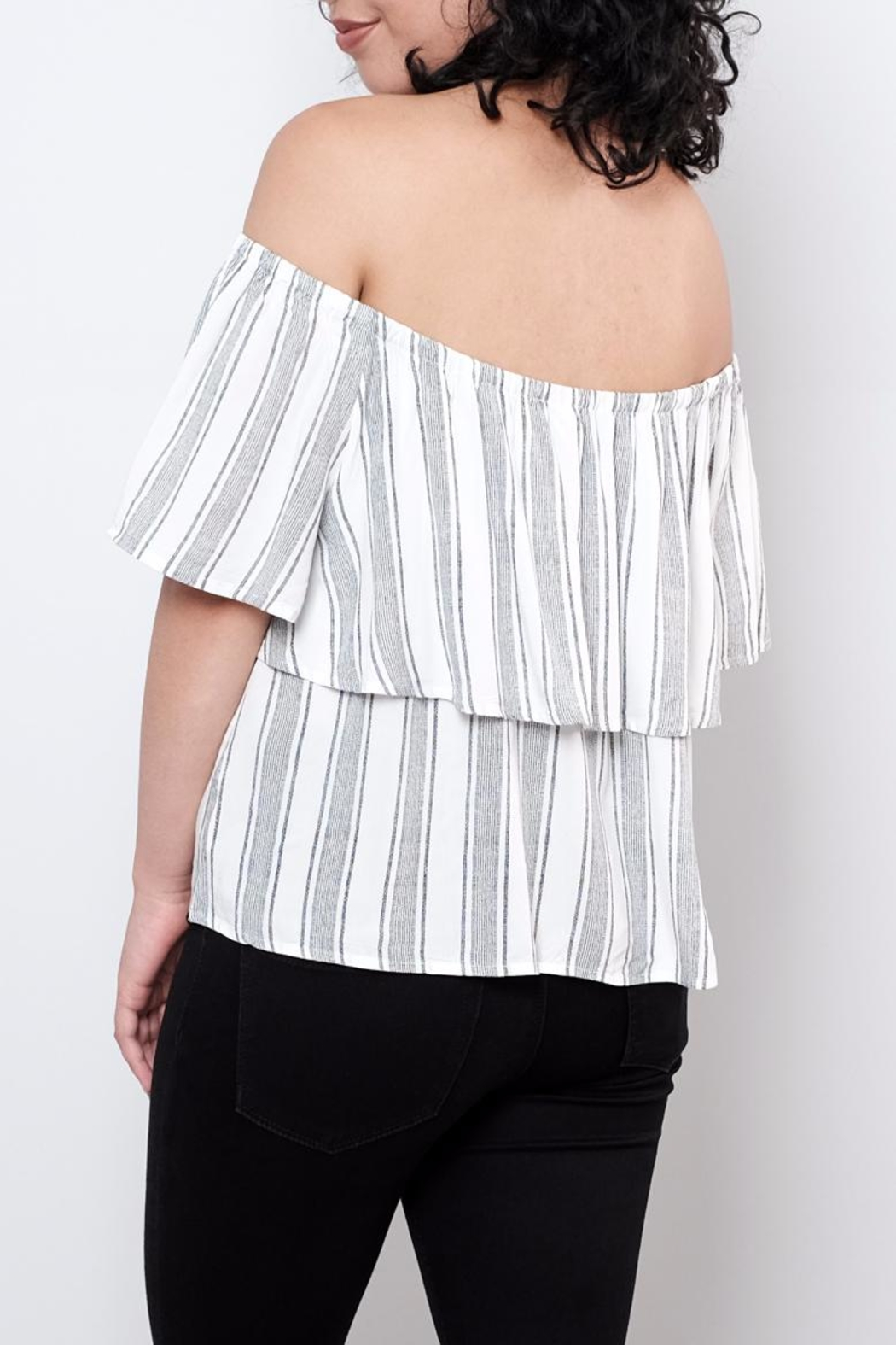 ONLY Striped Top - Side Cropped Image