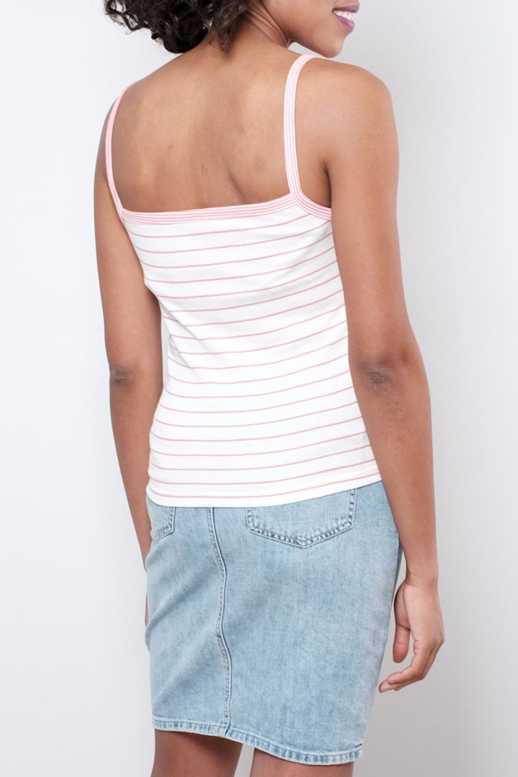 ONLY Striped Tank Top - Front Full Image