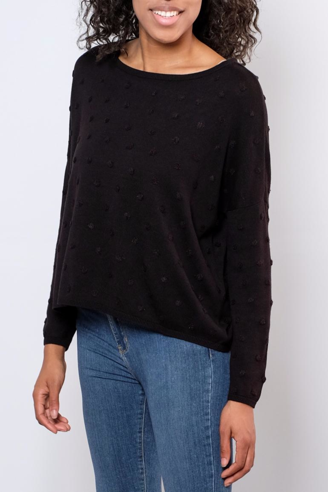 ONLY Textured Dot Pullover - Side Cropped Image