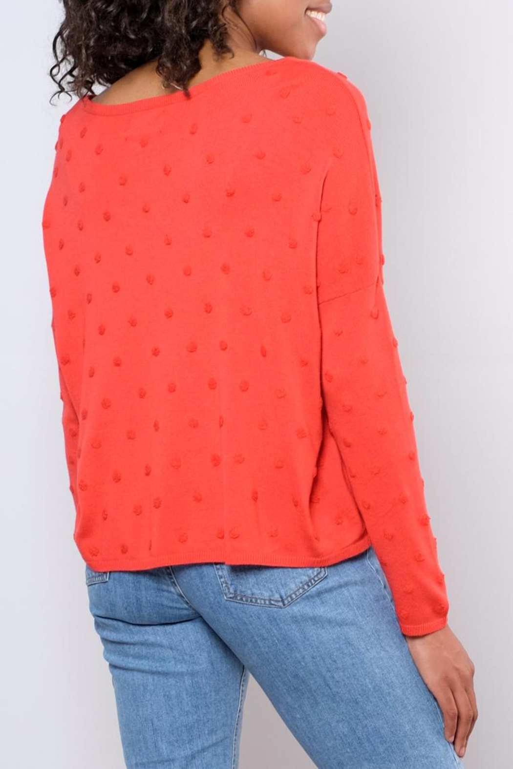 ONLY Textured Dot Pullover - Back Cropped Image