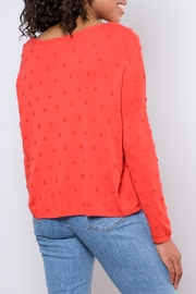 ONLY Textured Dot Pullover - Back cropped