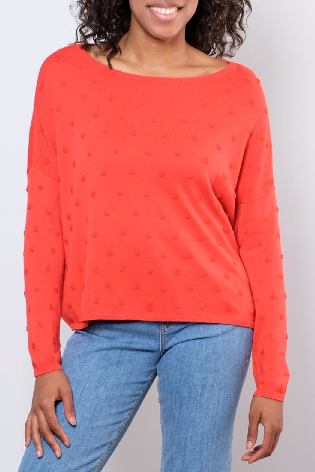 ONLY Textured Dot Pullover - Front Full Image