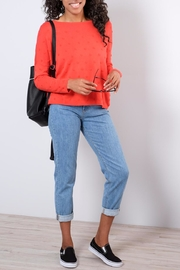 ONLY Textured Dot Pullover - Front cropped