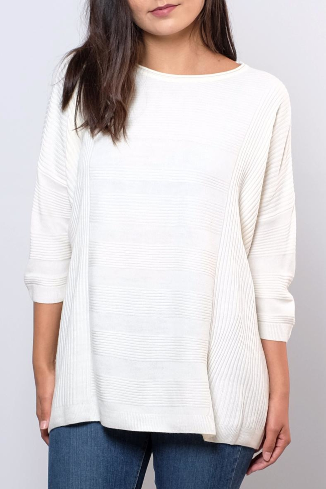 ONLY Textured Oversize Pullover Top - Front Cropped Image