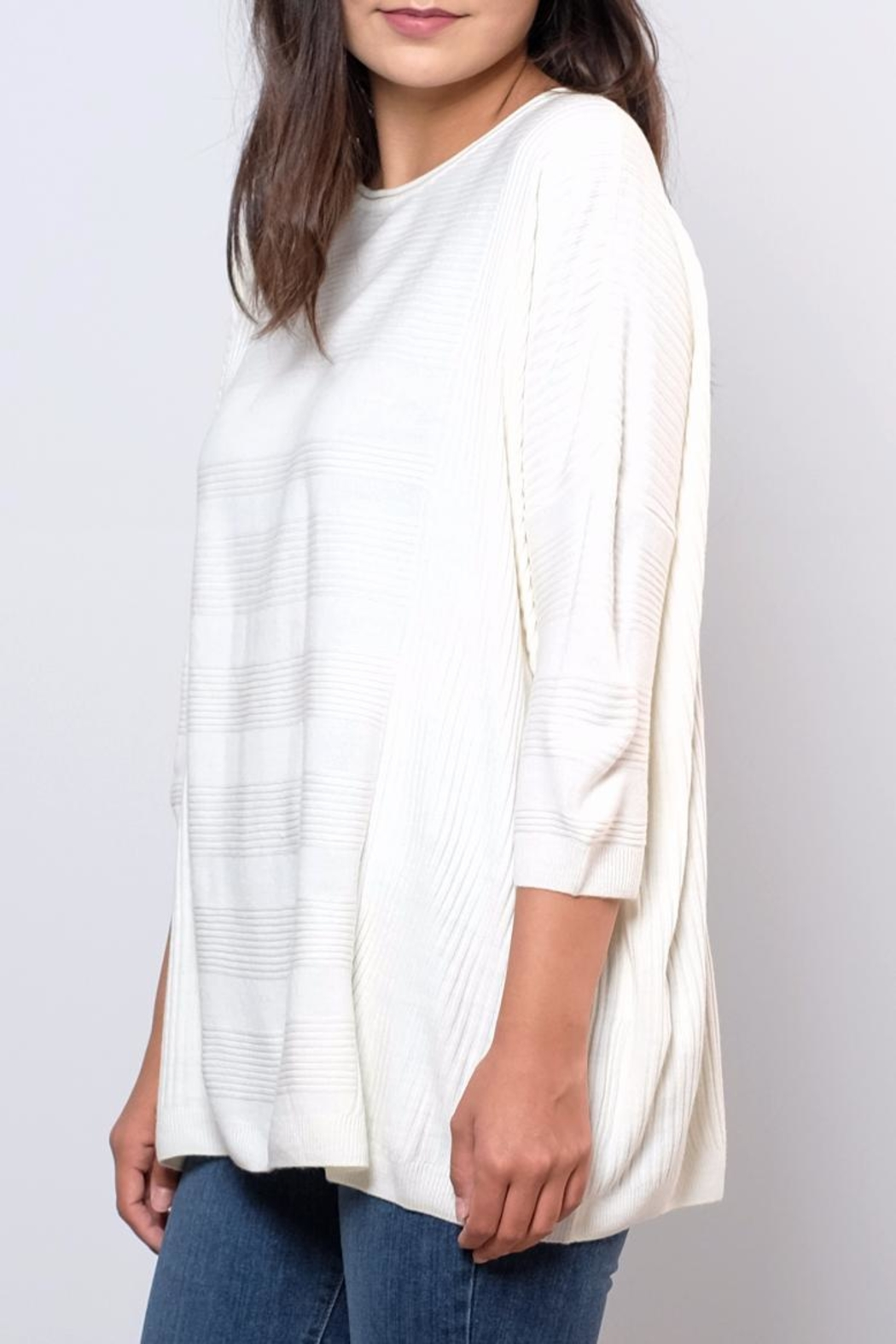 ONLY Textured Oversize Pullover Top - Front Full Image