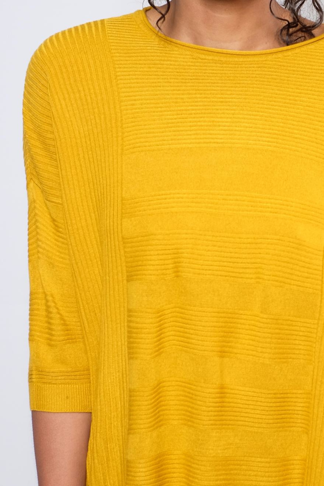 ONLY Textured Oversize Pullover Top - Back Cropped Image