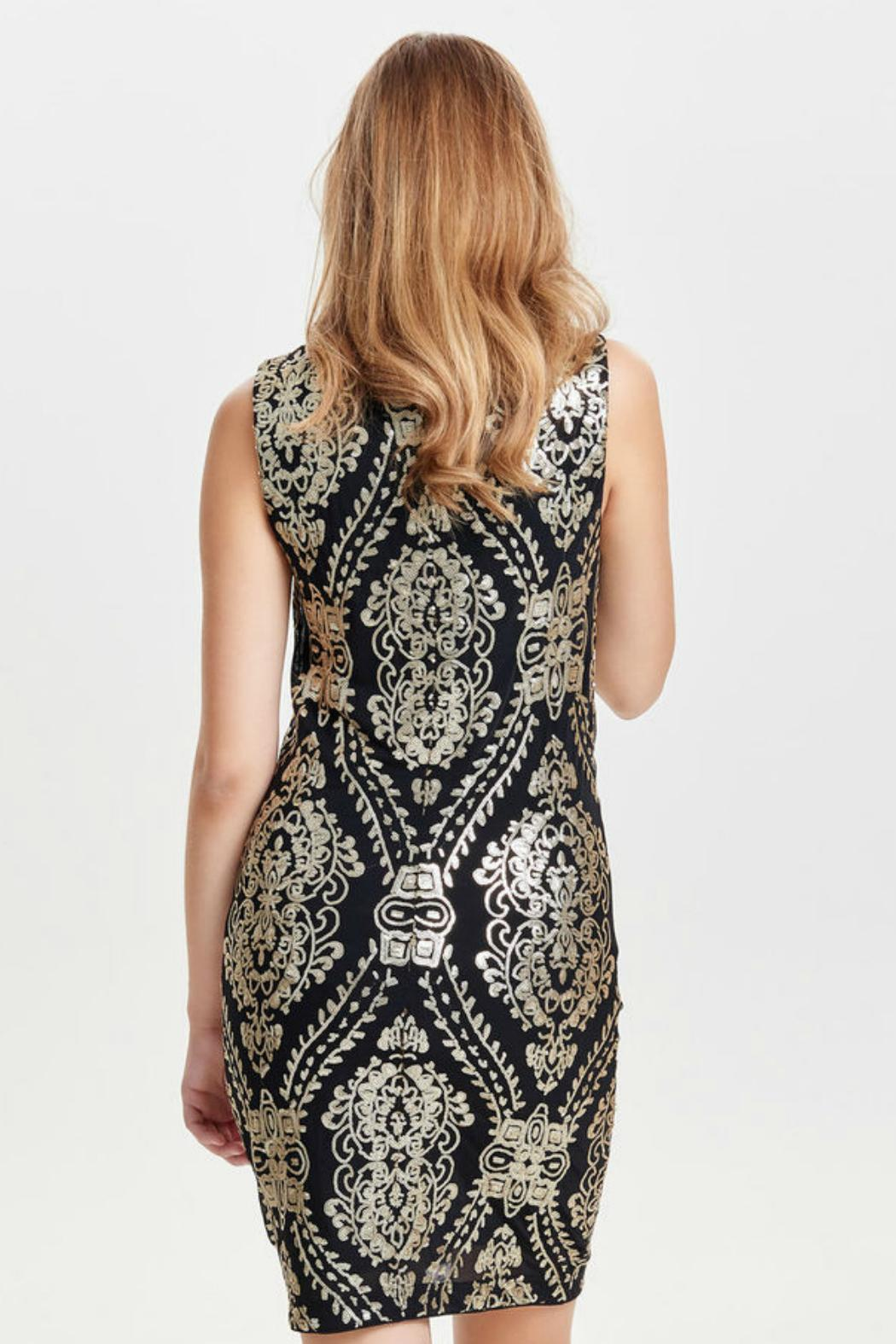 Only One Amber Sequin Dress - Front Full Image